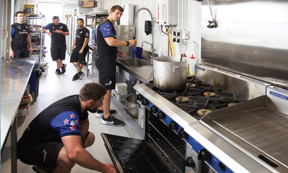 Moffat Emirates NZ team kitchen